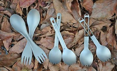 Outdoor camping titanium Spork 12g Ultralight Titanium Spoon Long Handle Spoon