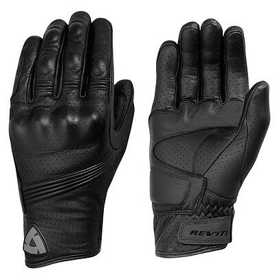 Revit Fly Men's Black Fly Leather Motorcycle Racing Gloves
