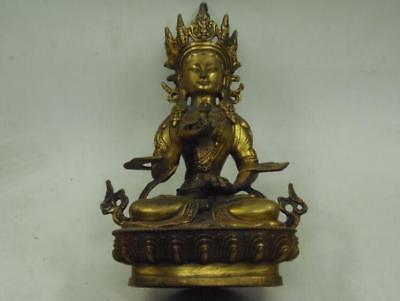"8"" Chinese Bronze Fengshui Emperor Royalty Dragon Phoenix Sculpture Statue"