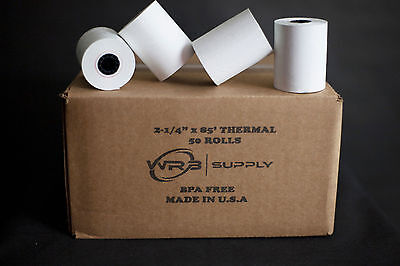 2 1/4'' x 85' Thermal Paper 50 Rolls for Verifone Omni 3200