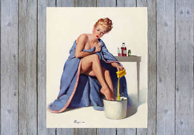 "16x20 /""Nothing to Sneeze At/"" Vintage Style Elvgren Pin-Up Girl Doctor Poster"