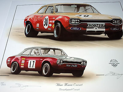 Broadspeed Racing Ford Escort Poster Print Picture Ford Rs Racer