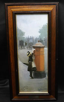 Albert Ludovici Posting a Letter Oil On Canvas Board Print Stephen Selby London