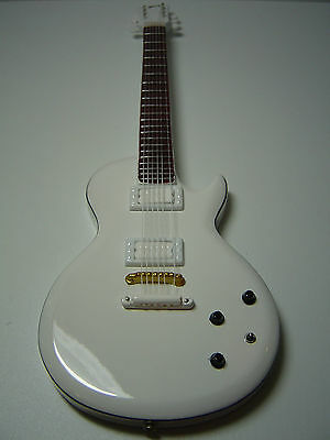 Buckethead White Les Paul Miniature Guitar