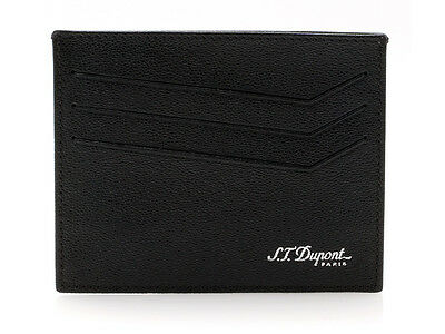 NEW S.T. Dupont High Quality Black Leather Credit Card Holder MSRP: $125.00