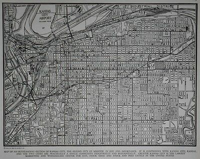 Nice Vintage 1941 World War II Atlas Map KC Kansas City, MO Missouri WWII L@@K!
