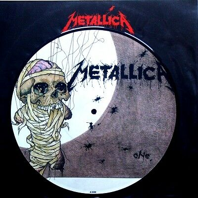 "Ex/ex Metallica One / Seek And Destroy (Live) 10"" Vinyl 45 Picture Pic Disc"