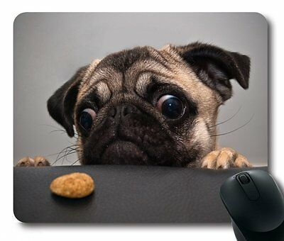 iMiMi Lovely Pug Dog Gaming Mouse Pad Non-Slip Rectangle Mouse Mat in 220mm*180m