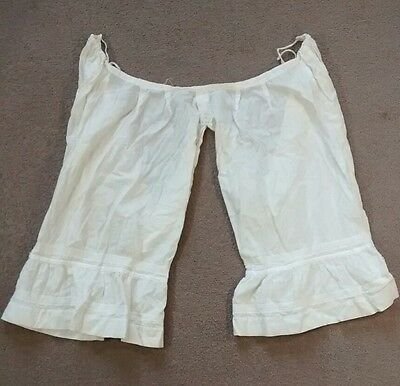 Antique Edwardian Victorian Bloomers Drawers Underwear Undergarment Pantaloons
