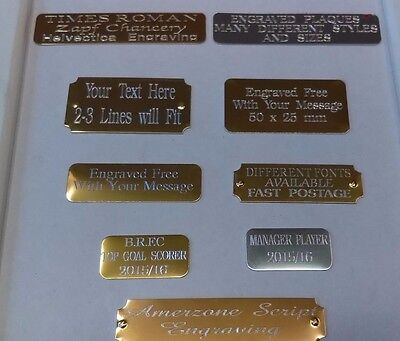 Small Engraved Memorial Plaques Plates Many Sizes & Styles