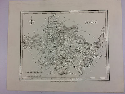 Tyrone by Samuel Lewis antique map Northern Ireland Circa 1837 B16