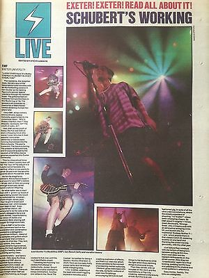 """EMF # LIVE @ EXETER UNIVERSITY # MAY 1991 CONCERT REVIEW # 16"""" x 12"""""""