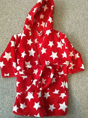 John Lewis Baby Boy Dressing Gown Red Star
