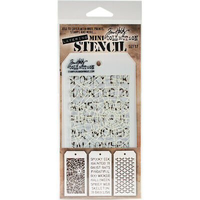 Tim Holtz Mini Layering Stencil ~ SET 17 ~ THMST017 ~ Stampers Anonymous