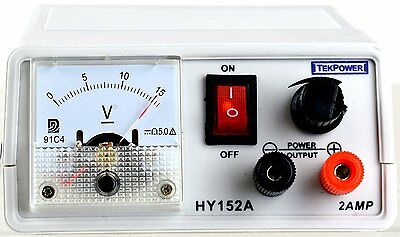 Tekpower TP152A DC Variable Power Supply 2.2-15 V @ 2A HY152A