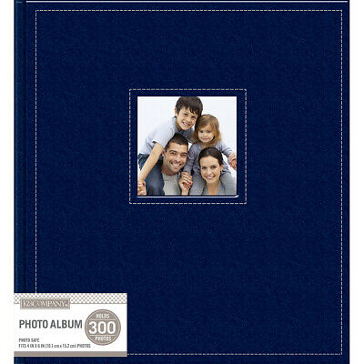 "K&Company 30706606  5 Up Faux Leather Photo Album 12""X13""-Navy"