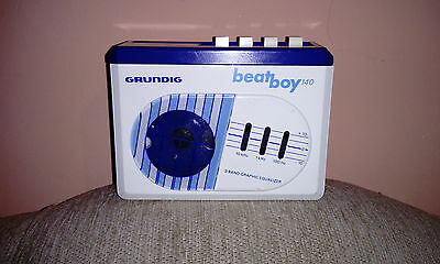 Vintage Rare Blue Walkman GRUNDIG Stereo Cassette Player Beat Boy140 - Tested!