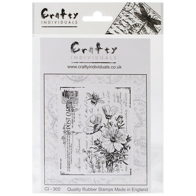 """475x7 Crafty Individuals Unmounted Rubber Stamp 4.75/""""x7/"""" Pkg-sewing Notions"""