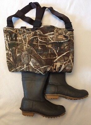 Mens Proline Advantage Max 4 Insulated Waders SZ 12 Chest Boot Camo 600