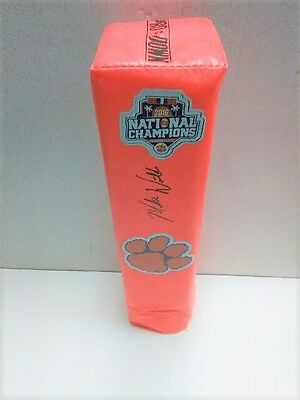 MIKE WILLIAMS Clemson Tigers 2017 National Champions SIGNED Touchdown Pylon