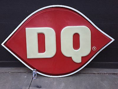 Dq Dairy Queen Store Display Large Sign Plastic Metal Surround Bar Man Cave Ice