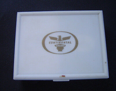 Vintage Continental Airlines Playing Cards Double Deck With Plastic Case