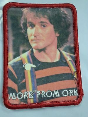 Vtg 70s Robin Williams MORK From ORK Sew on Patch.