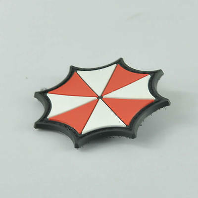 Military Army Umbrella Tactical Patch Badge Combat 3D Morale Special PVC Rubber