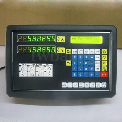 2 Axis Digital Readout For Milling Lathe Machine With Precision Linear Scale Hot