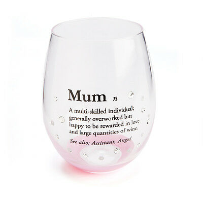 Mum Definition Stemless Glass - Mothers Day - Stemless Wine Glass In Gift Box