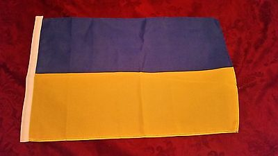"Small Ukrainian Flag 1x1.5 30x45cm 12x18"" 100% Polyester (ships from Canada)"