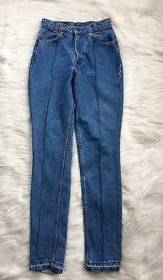 Vintage Levi's 632 High Waisted Woman's Skinny Tapered Mom Jeans Size 24x30