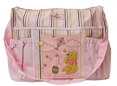 Pink Disney Baby Winnie The Pooh Deluxe Diaper Bag Girls Diaper Pad Great Gift