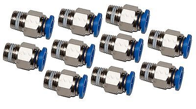 """10 Pieces pneumatic 1/4"""" OD Tube x 1/8"""" NPT Push to connect one touch fitting"""