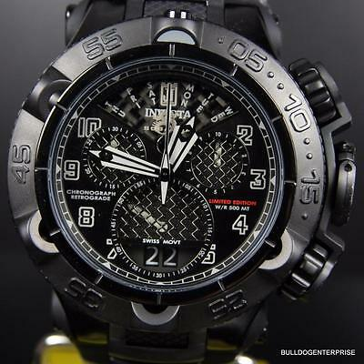 Invicta Subaqua Noma V JT Black 50mm LE Twisted Metal Chronograph Watch New