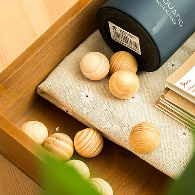 10X Natural Cedar Wood Moth Ball Camphor Repellent Wardrobe Shoes Clothes Drawer
