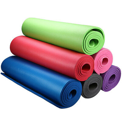 Yoga Mat Exercise Pad 6MM Thick Non-slip Gym Fitness Pilates Equipment
