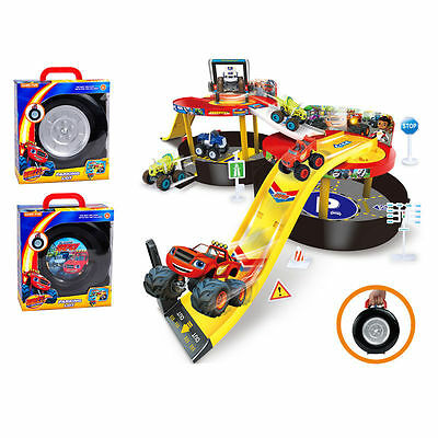 2017 Kids Toy New Blaze and the Monster Machines Vehicles Parking Lot Nickeloden