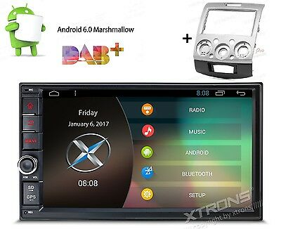 """7"""" Android 6.0 Double 2 Din Car NON-DVD Radio GPS + Fascia Plate for FORD RANGER"""