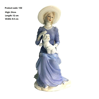 Western beauty lady porcelain doll gift Figurine height decorations Ceramic doll