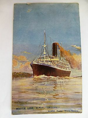 R.M.S. Antony - Old Booth Line / Steamship Postcard