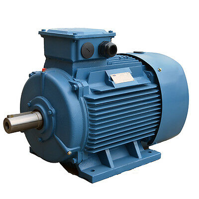 3 Phase Electric Motor, Cast Iron, 22 KW, 29.5HP, 2 Pole, 2955 RPM