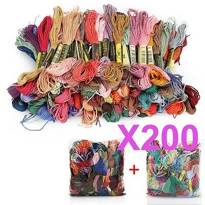 200pcs Anchor Cross Stitch Stranded Cotton Embroidery Thread Floss Whloesale