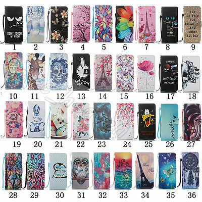 Patterned Flip Leather Wallet Card Stand Case Cover For Samsung Galaxy S8/Plus