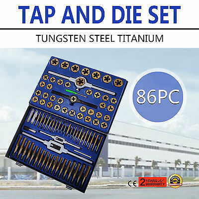 86 Piece Combination Tap and Die Set Screw Thread Metric and SAE Tungstem Steel
