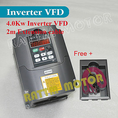 CNC 4KW 220V 5HP Inverter VFD 18A Variable Frequency Drive Single Phase VFD