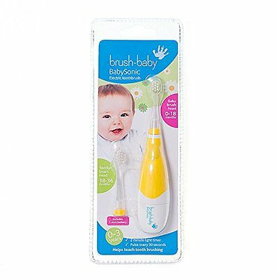 Brush-Baby Baby Sonic Electric Toothbrush For Baby's & Toddlers 0-3 Years