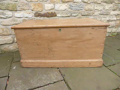 Victorian Blanket Chest with Original Handles + Hinges