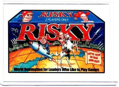 """2017 Wacky Packages/gpk Trumpocracy 1St 100 Days """"risky Board Game"""" Limited Ed."""
