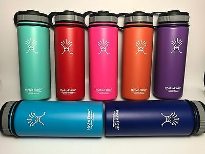 18oz/32oz/40oz Hydro Flask Insulated Stainless Steel Water Bottle Wide Mouth New